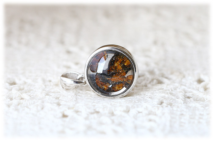 パラサイト隕石ペンダント【Silver925】【石のサイズ12mm】01