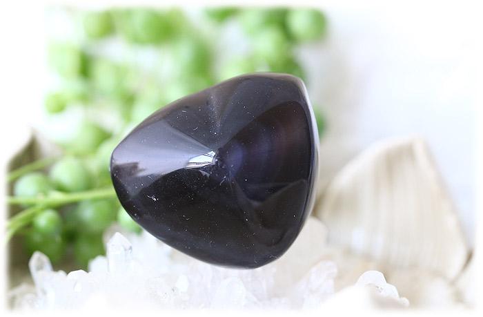 レインボーオブシディアンハートストーン【石のサイズ32×28.5×20mm】04