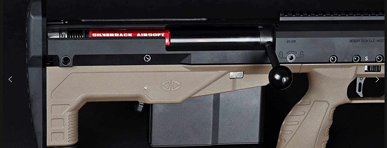 Silverback HTI .50 BMG Rifle (Pull Bolt)(ブルパップエアコッキングライフル) Black / Black プルバック スナイパー エアーコッキング ライフル SBA-BLT-20BK