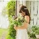 人気商品*リボンカチューシャ【リーフモチーフ&パール】H-005,花嫁アクセサリー,小枝★即日出荷可