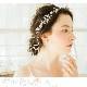 カチューシャ【キラキラ透明感ある小枝風モチーフ】H-022,花嫁,演奏会,発表会★即日出荷可