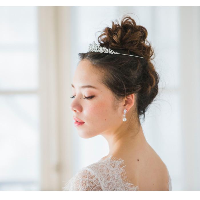 ティアラ【小さめサイズのストーンティアラ】 T-019 *即日出荷可能*結婚式,花嫁,アクセサリー