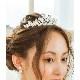 人気*ティアラ【シルエットが美しく上品*即日出荷可】ジルコニア,花嫁,ヘッドピース,アクセサリー