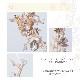 リボンカチューシャ・バックカチューシャ【花&葉がナチュラルで可憐な印象】H-014,花嫁★即日出荷可