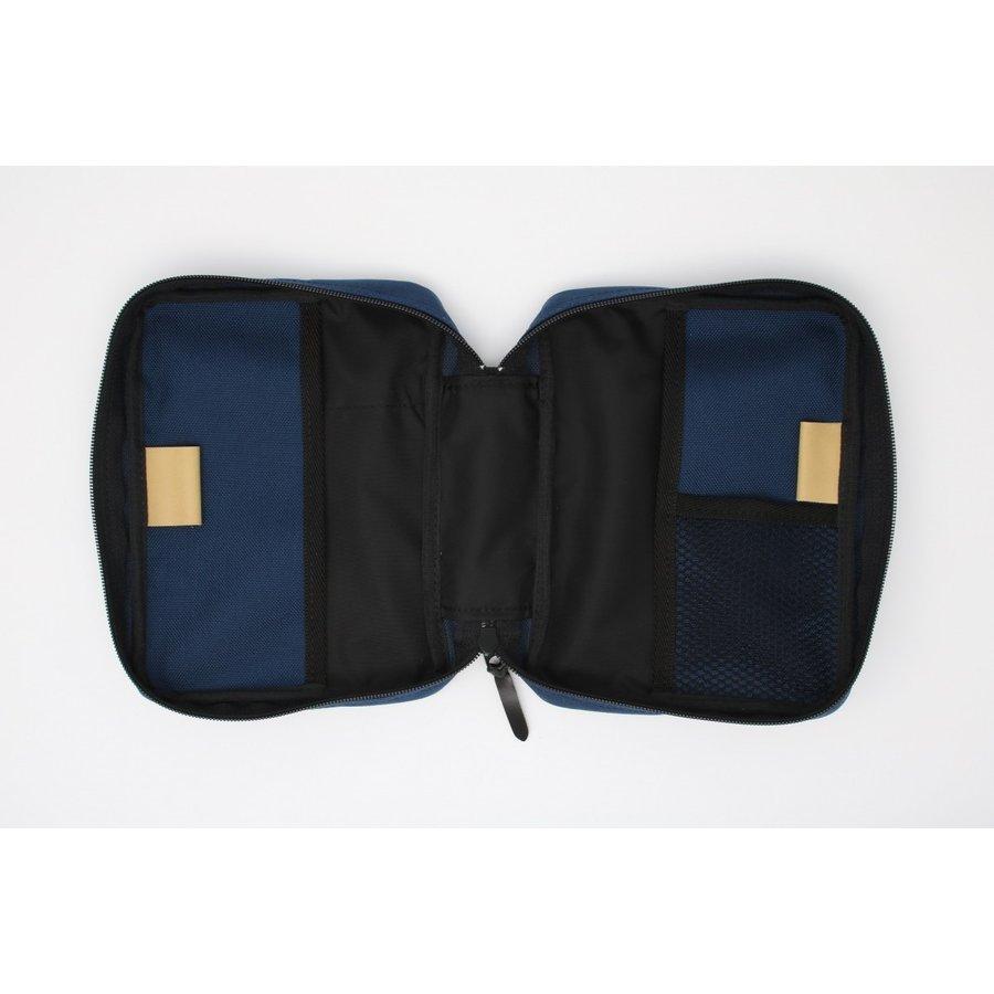 聖書カバー  ナイロン製(ポケット付き)大 ダークブルー (53163)