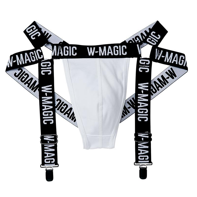 サスペンダー付きTバックパンツ W-Magic