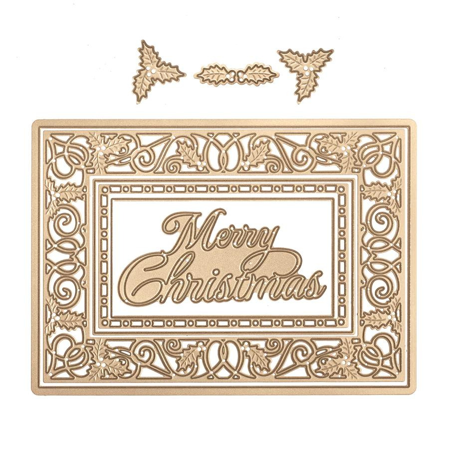 S6-151/Spellbinders/スペルバインダーズ/ダイ(抜型)/SShapeabilities Holly Jolly Christmas Etched Dies A Charming Christmas Collection by Becca Feeken   ホリージョリークリスマス