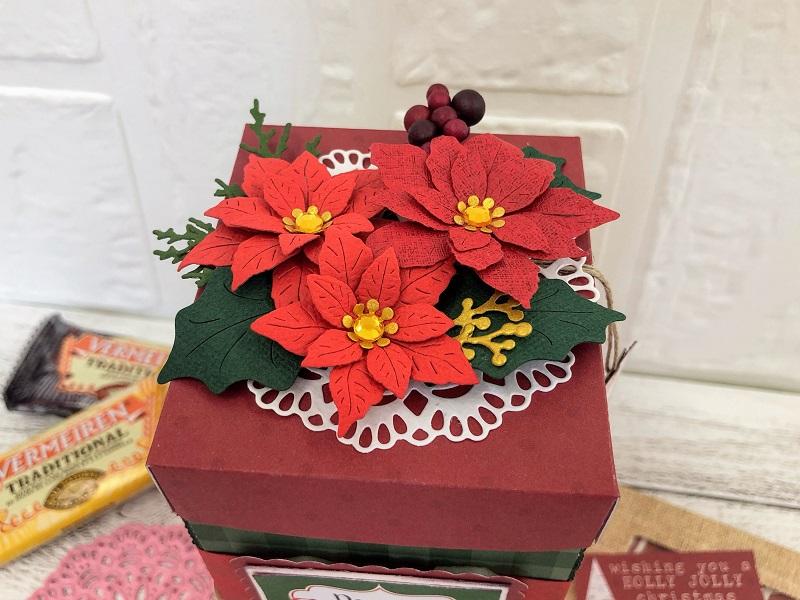 12月19日(土)    開催分 スクラップブッキング教室  大北美鈴先生『X'mas ティーバックBOX (プレゼントenvelope付き)』