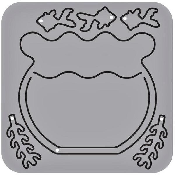 【N57-123】/ワンダーハウス/ダイ(抜型)/ 金魚鉢 きんぎょばち 金魚  寺沼麻美