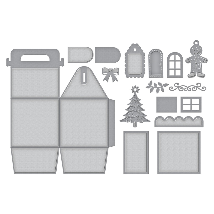 S6-153/Spellbinders/スペルバインダーズ/ダイ(抜型)/Shapeabilities Charming Cottage Box Etched Dies A Charming Christmas Collection by Becca Feeken チャーミングコッテジ ボックス チャーミング クリスマス コレクション
