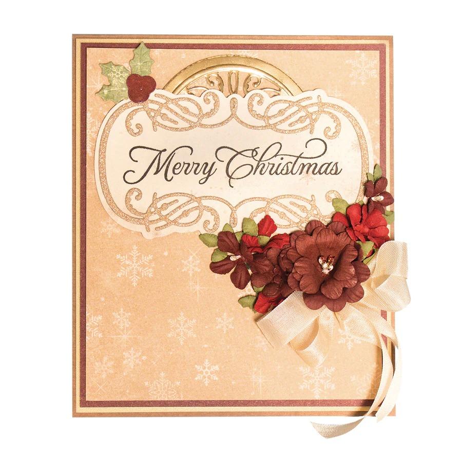 SDS-164/Spellbinders/スペルバインダーズ/ダイ(抜型)/Sentimental Christmas Stamp and Die Set A Charming Christmas Collection by Becca Feeken 記念日 クリスマスコレクション バナー タグ ダイ スタンプ セット