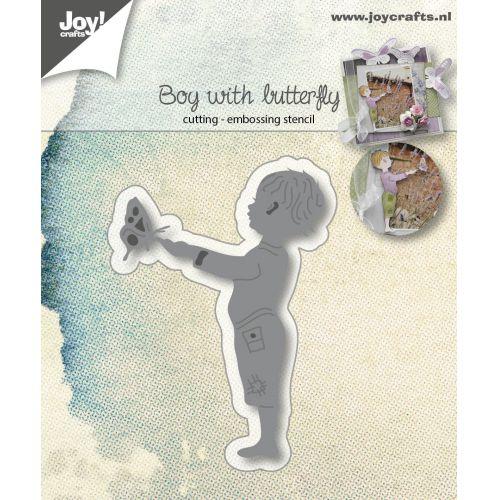 6002-1031/Joy! Crafts/ジョイ・クラフツ/ダイ(抜型)/Little boy with butterfly 男の子 蝶 バタフライ