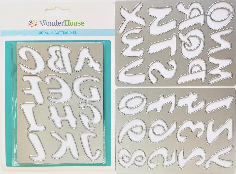 042/WonderHouse/ワンダーハウス/ダイ(抜型)/英数字プレート 3枚セット