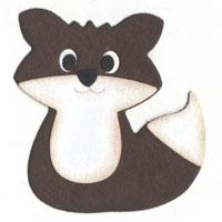 Q2030-KS0891/QuicKutz/クイックカッツ/ダイ(抜型)/2×2 Double Die/fox キツネ 狐