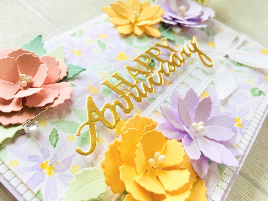 【414】/ワンダーハウス/ダイ(抜型)/Happy Anniversary   記念日おめでとう テキスト 筆記体 タイトル