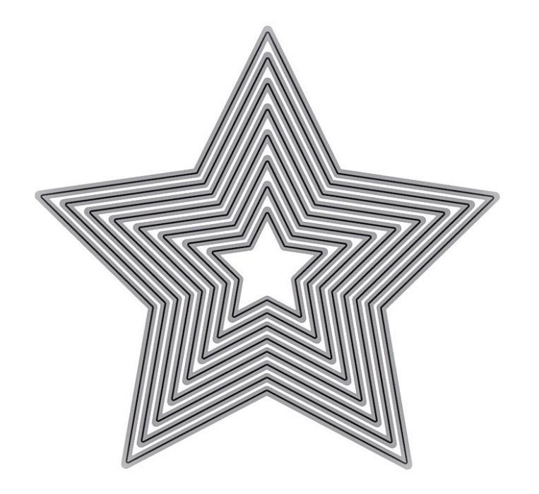 【415】/ワンダーハウス/ダイ(抜型)/ネスティング レイヤー 星 ほし スター