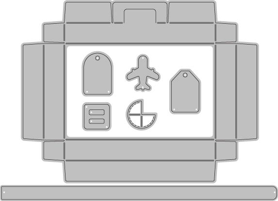 365/WonderHouse/ワンダーハウス/ダイ(抜型)//トランク スーツケース