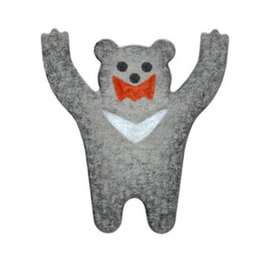 N35-027/WonderHouse/ワンダーハウス/ダイ(抜型)/bear クマ くま 熊