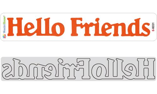 N21-016/WonderHouse/ワンダーハウス/ダイ(抜型)/Hello Friends 文字 テキスト ボーダー