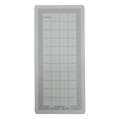 W002-3/WonderHouse/ワンダーハウス/目盛り付きPVC製カッティングパッド(塩ビ/グレー)ロング 152x330mm 5.0mm A5サイズ対応中型マシン向け 【メール便不可】