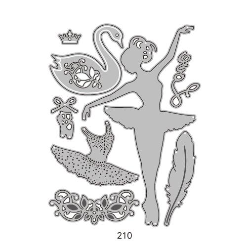 210/WonderHouse/ワンダーハウス/ダイ(抜型)/バレリーナ バレエ 白鳥 王冠 トゥシューズ