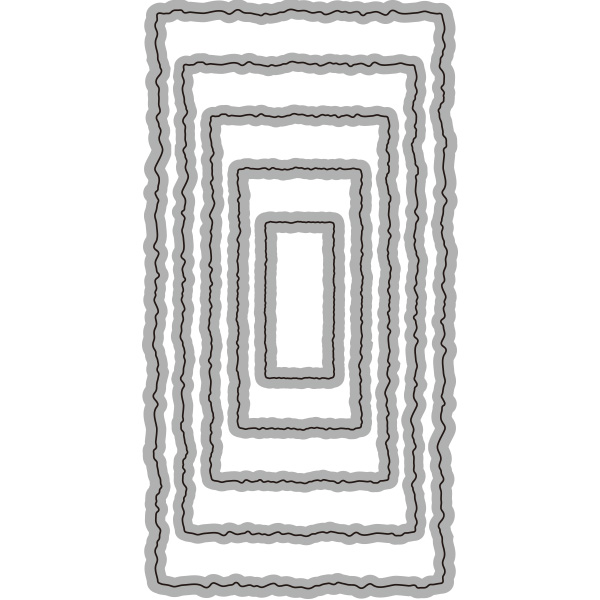 164/WonderHouse/ワンダーハウス/ダイ(抜型)/長方形 レクタングル  1  ネスティング レイヤー