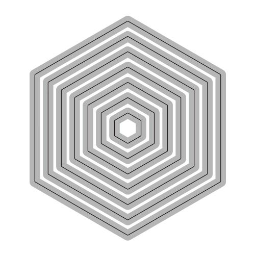 188/WonderHouse/ワンダーハウス/ダイ(抜型)/六角形 ヘキサゴン レイヤー