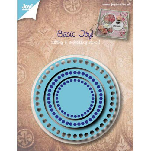 6002-0528/Joy! Crafts/ジョイ・クラフツ/ダイ(抜型)/Basic with holes ベーシック サークル