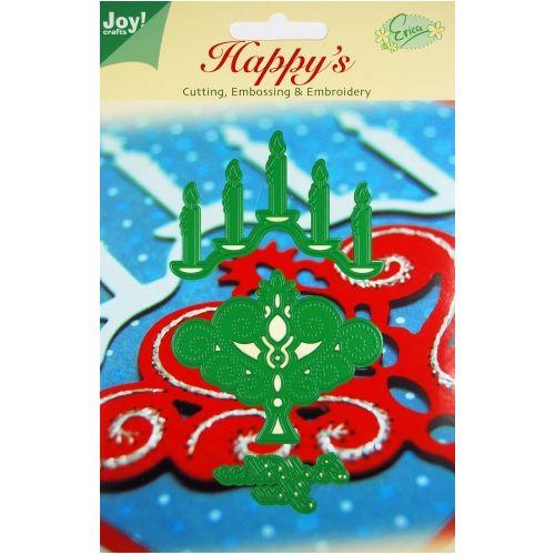 6002-2007/Joy! Crafts/ジョイ・クラフツ/ダイ(抜型)/Christmas Candlestick クリスマス キャンドル