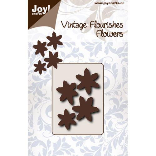 6003-0065/Joy! Crafts/ジョイ・クラフツ/ダイ(抜型)/Flower with 6 leaves pointed 花 葉っぱ