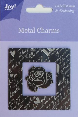 6350-0100/Joy! Crafts/ジョイ・クラフツ/メタルチャーム/ローズ エンベリッシュメント