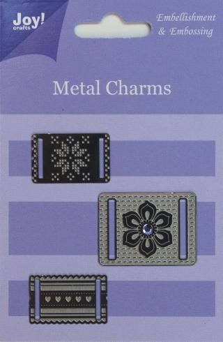 6350-010/Joy! Crafts/ジョイ・クラフツ/メタルチャーム/リボンチャーム エンベリッシュメント