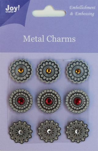 6350-0103/Joy! Crafts/ジョイ・クラフツ/メタルチャーム/フラワー エンベリッシュメント