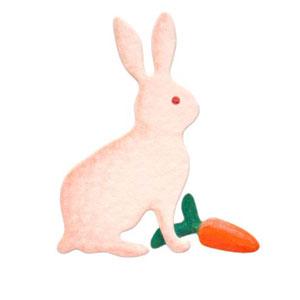 35-021/WonderHouse/ワンダーハウス/スポンジダイ(抜型)/rabbit bunny ウサギ うさぎ 兎