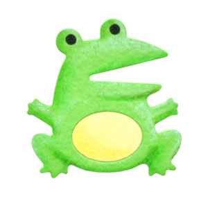 35-047/WonderHouse/ワンダーハウス/スポンジダイ(抜型)/frog カエル 蛙