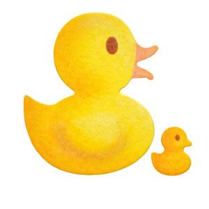 35-065/WonderHouse/ワンダーハウス/スポンジダイ(抜型)/duck アヒル あひる 親子