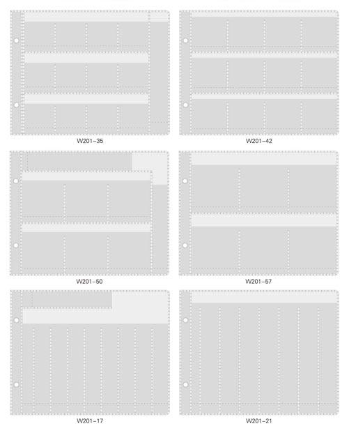 N201-set/WonderHouse/ワンダーハウス/収納ツール/ダイ収納シート 6種類セット(Nシリーズダイ対応)