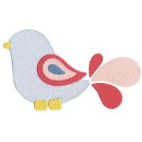 Q2067-KS1005/QuicKutz/クイックカッツ/ダイ(抜型)/2×2 Double Die/bird 鳥