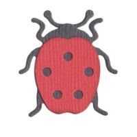 Q2070-KS1008/QuicKutz/クイックカッツ/ダイ(抜型)/2×2 Double Die/ladybug てんとう虫