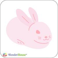 W1337/ワンダーハウス/スポンジダイ(抜型)/rabbit うさぎ ウサギ 兎 卯