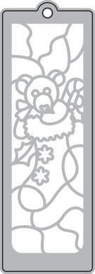 024/WonderHouse/ワンダーハウス/ダイ(抜型)/ブックマーク エンボス しおり クリスマス