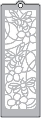 026/WonderHouse/ワンダーハウス/ダイ(抜型)/ブックマーク エンボス しおり 花とみつばち