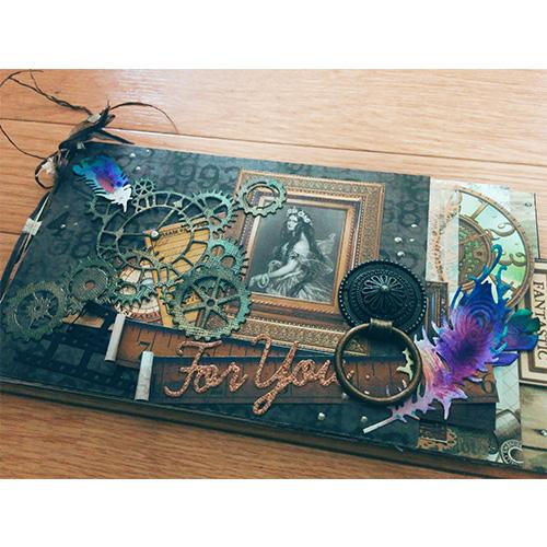 大北美鈴先生「Autumnコラージュブック」10/13開催分スクラップブッキング教室