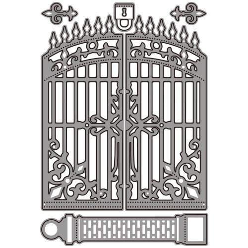 269/WonderHouse/ワンダーハウス/ダイ(抜型)/Gate ゲート 門 パドロック 錠前