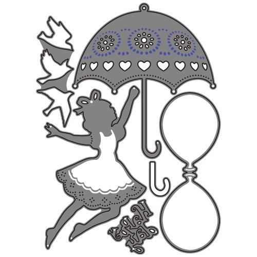 273/WonderHouse/ワンダーハウス/ダイ(抜型)/少女 パラソル 傘 小鳥 アリス wonderland