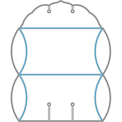 282/ワンダーハウス/ダイ(抜型)/ ピローボックス※出来上がりサイズ:約18x9x3.3cm