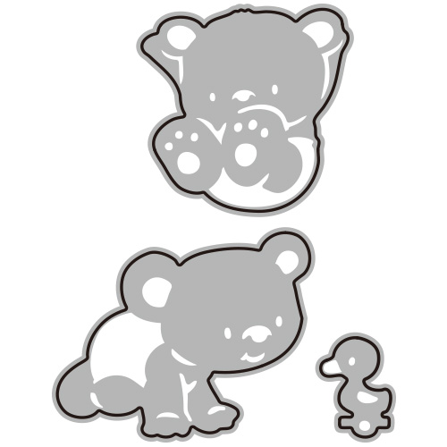 300/WonderHouse/ワンダーハウス/ダイ(抜型)/Baby Bears こぐま