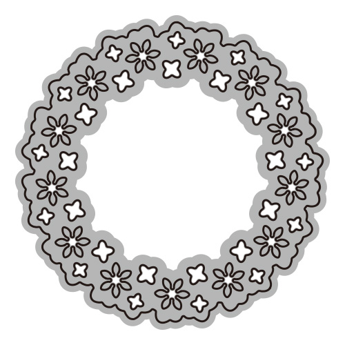 302/WonderHouse/ワンダーハウス/ダイ(抜型)/Simplicity Floral Circle フローリッシュ サークル