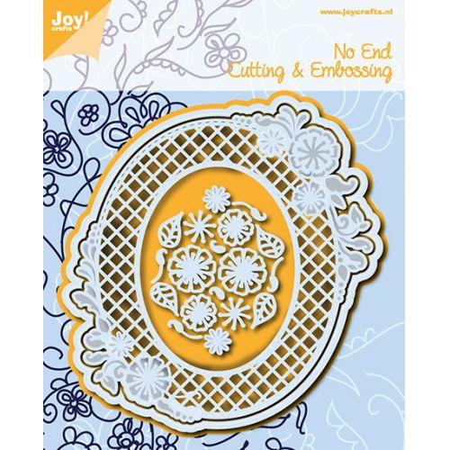 6002-0773/Joy! Crafts/ジョイ・クラフツ/ダイ(抜型)/Endless Floweroval オーバル 花 フレーム