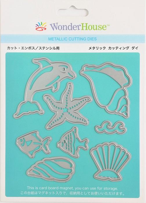 056/WonderHouse/ワンダーハウス/ダイ(抜型)/海 魚 貝 イルカ ヒトデ 8枚入